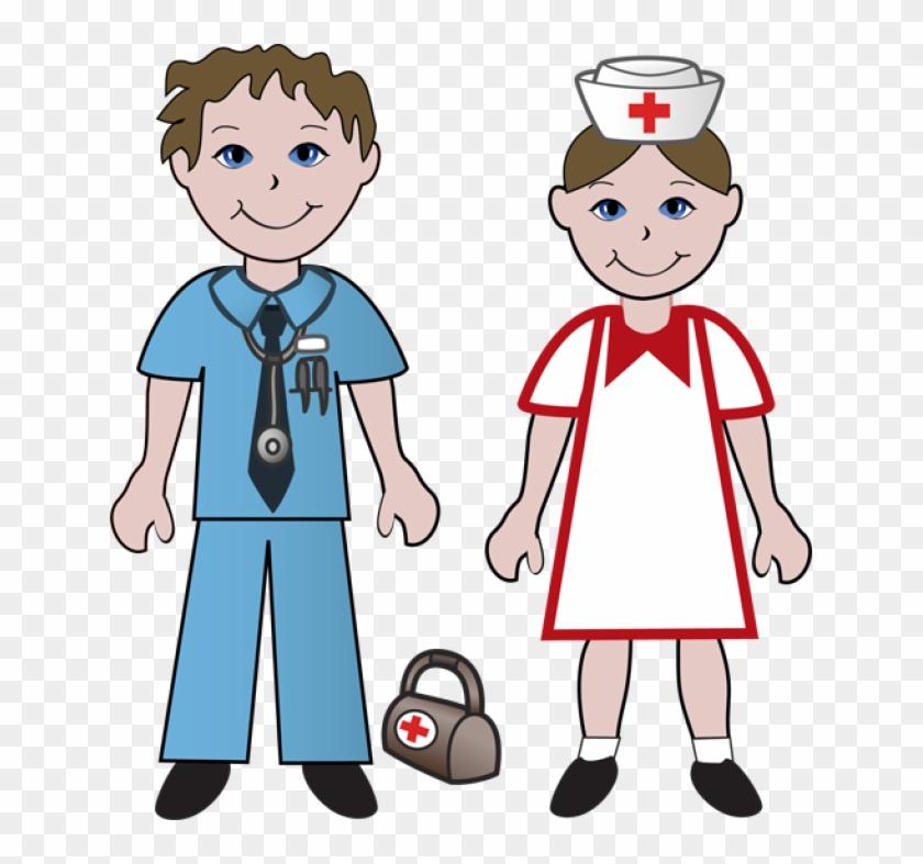 Nurse Clipart - Male And Female Nurses #3019