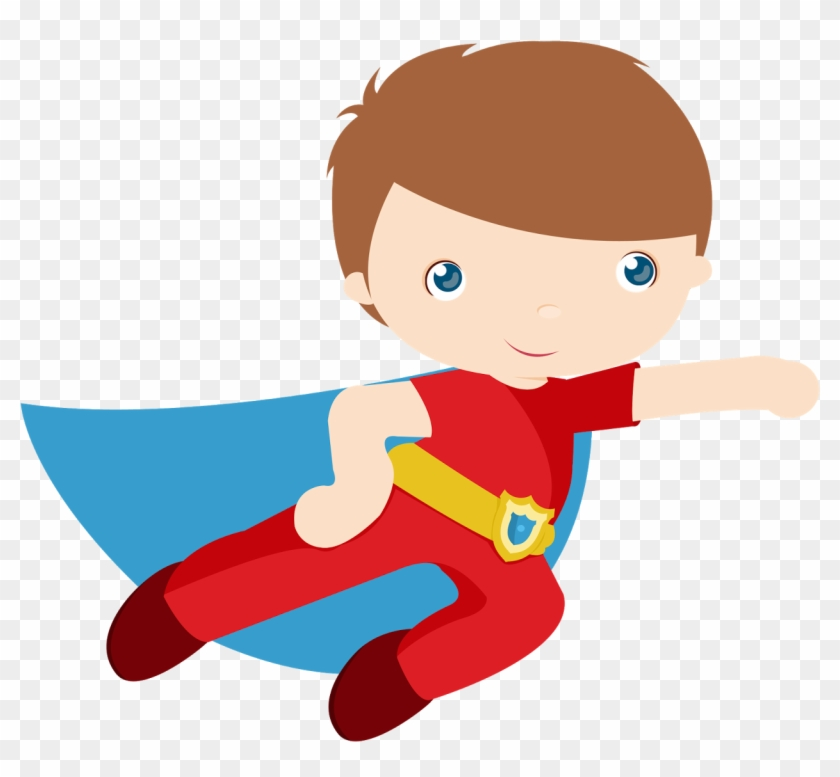Kids Dressed As Superheroes Clipart - Superhero Clipart #3002