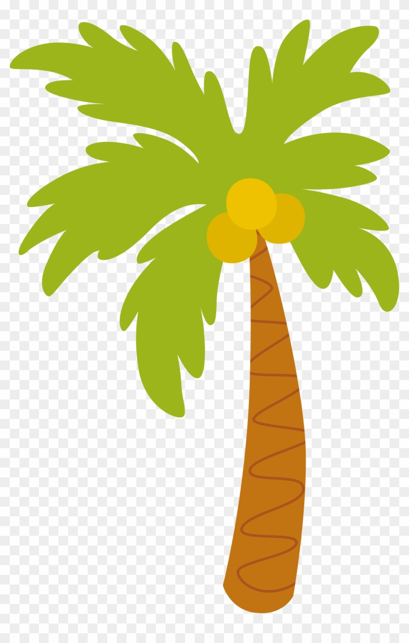 Palm Tree Clip Art, And More Hawaiian Aloha Tropical - Coqueirinho Desenho #3024