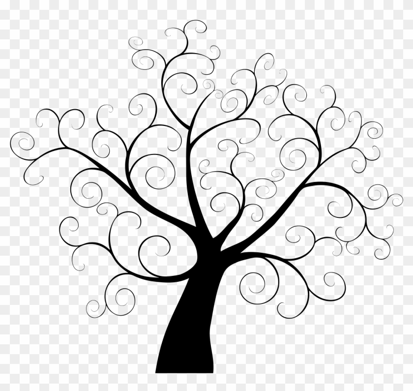 Tree Fingerprint Template Guestbook Clip Art - Tree Fingerprint Template Guestbook Clip Art #309