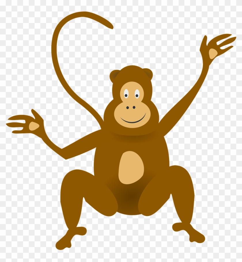 Animated Baby Monkey Clip Art - Monkey Clipart No Background #3022