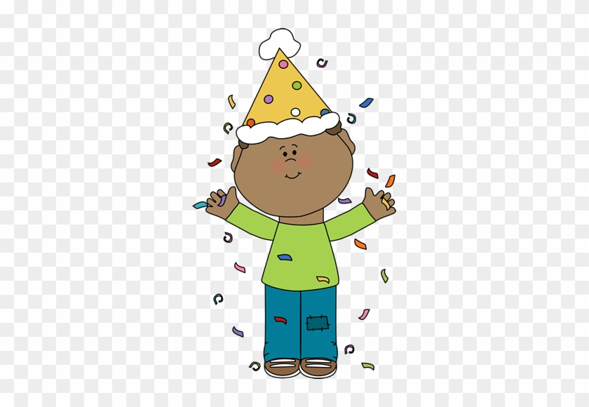 Birthday Boy With Confetti - Birthday Boy Clipart #3065