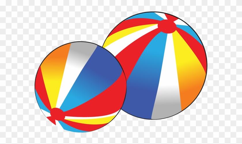 Beach Ball Clip Art 2 Image 3 - 2 Balls Clipart #3098