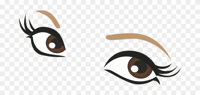 Brown Eyes Clipart Lash Clipart - Cute Eyes Cartoon #3086