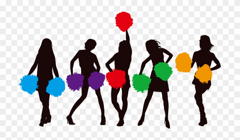 Cheerleading Cartoon Pom Pom Clip Art - Cheerleaders Png #3110