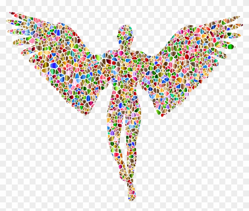 Chromatic Tiled Angel Silhouette No Background Icons - Angel Logo No Background #3156