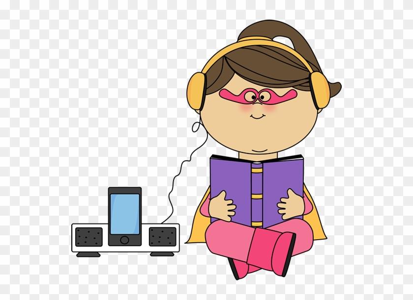 Superhero Girl Listening To A Book - อ่าน หนังสือ ฟัง เพลง #3170