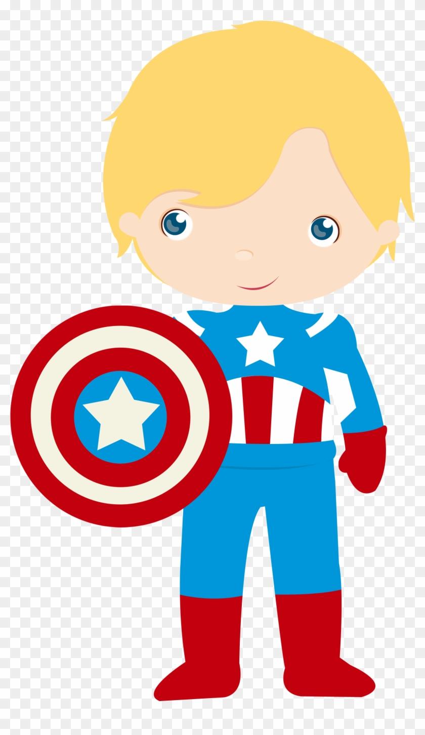 Captain America Little Boy Clip Art - Super Herois Desenho Png #3217