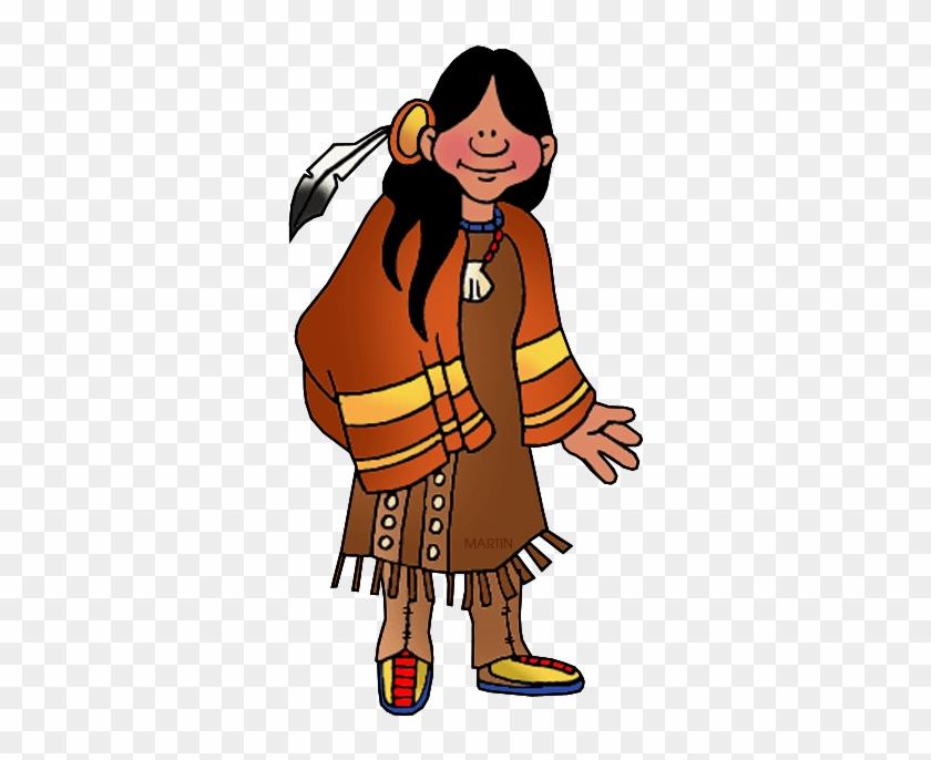 Northeast Woodland Woman - First Nation People Cartoon #3210