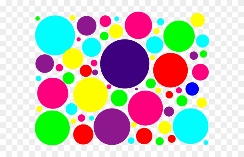 Multi Colored Polka Dots Clip Art At Clipart Library - Multi Colored Polka Dots #3230