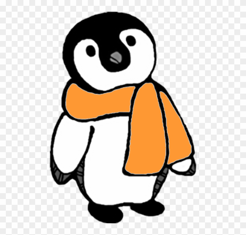Intention - Clipart - Penguin With Scarf Clipart #3219