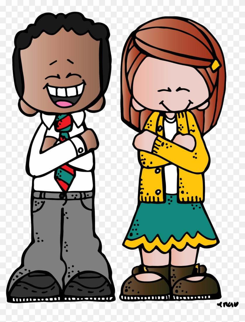 Boy Praying Clipart - Melonheadz Boy And Girl #3251