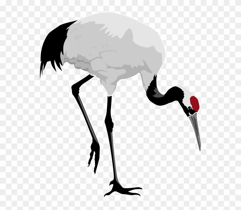 Free To Use Public Domain Birds Clip Art - Red Crowned Crane Clipart #3226
