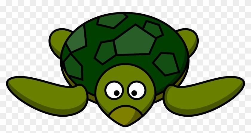 Clipart Cartoon Turtle - Sea Turtle Clipart #3255