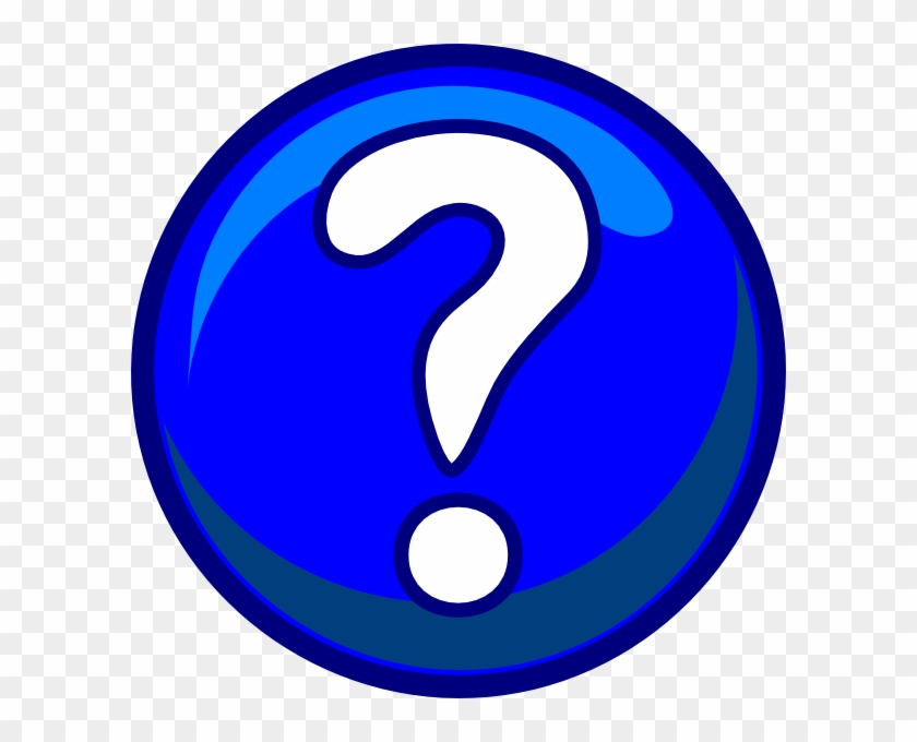 Question Mark Clipart - Blue Question Mark Clipart #3271