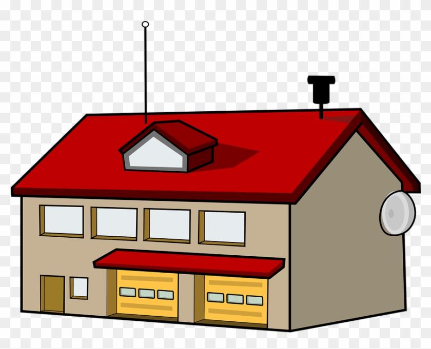 Fire Station Clip Art #3289