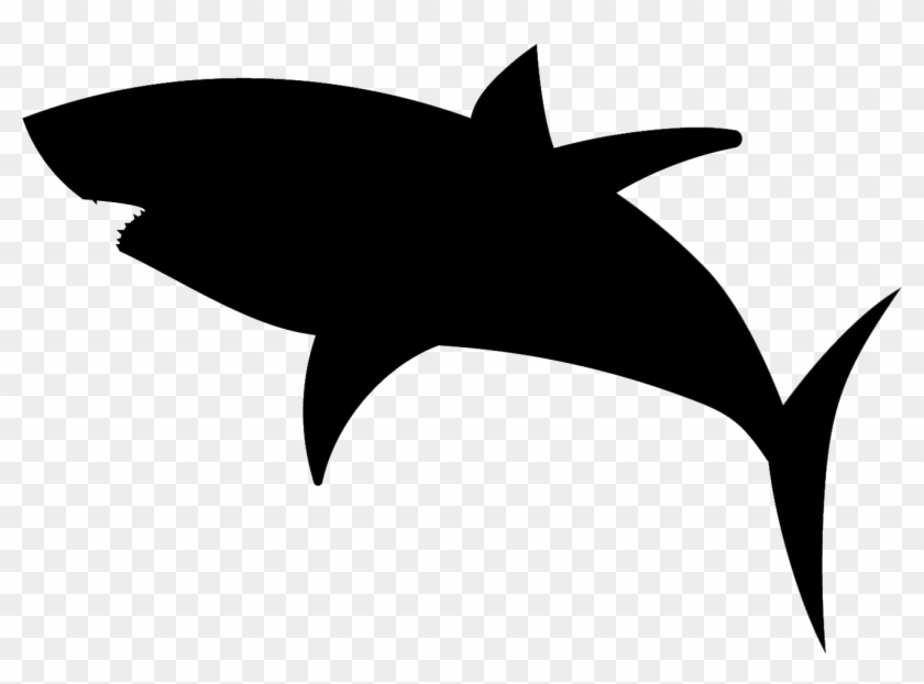 Great White Shark Silhouette - Clip Art Shark Silhouette #3245
