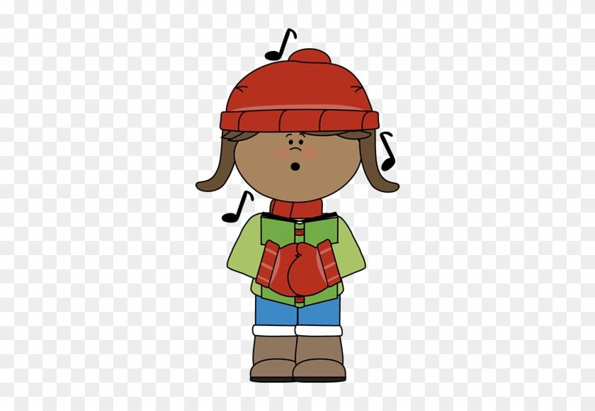 Kid Christmas Caroler - My Cute Graphics Christmas Clipart #3288