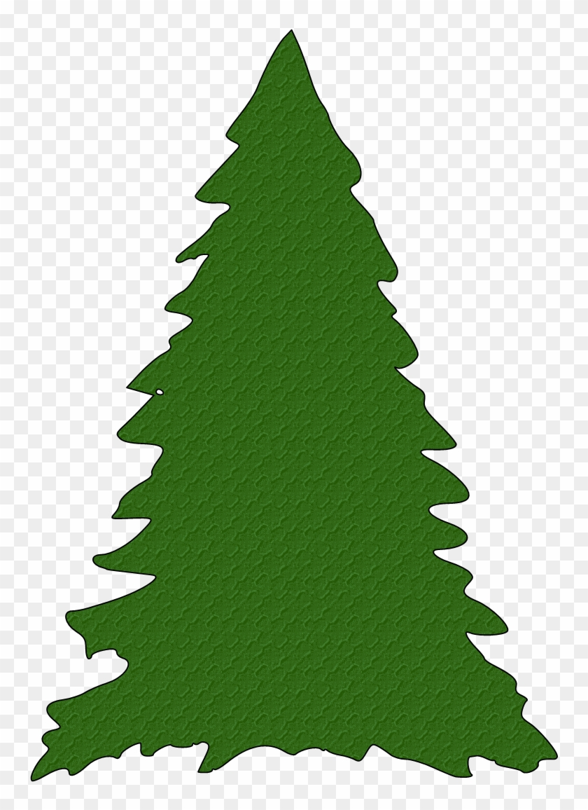 Green Christmas Tree Silhouette Clipart - Green Christmas Tree Silhouette Clipart #337