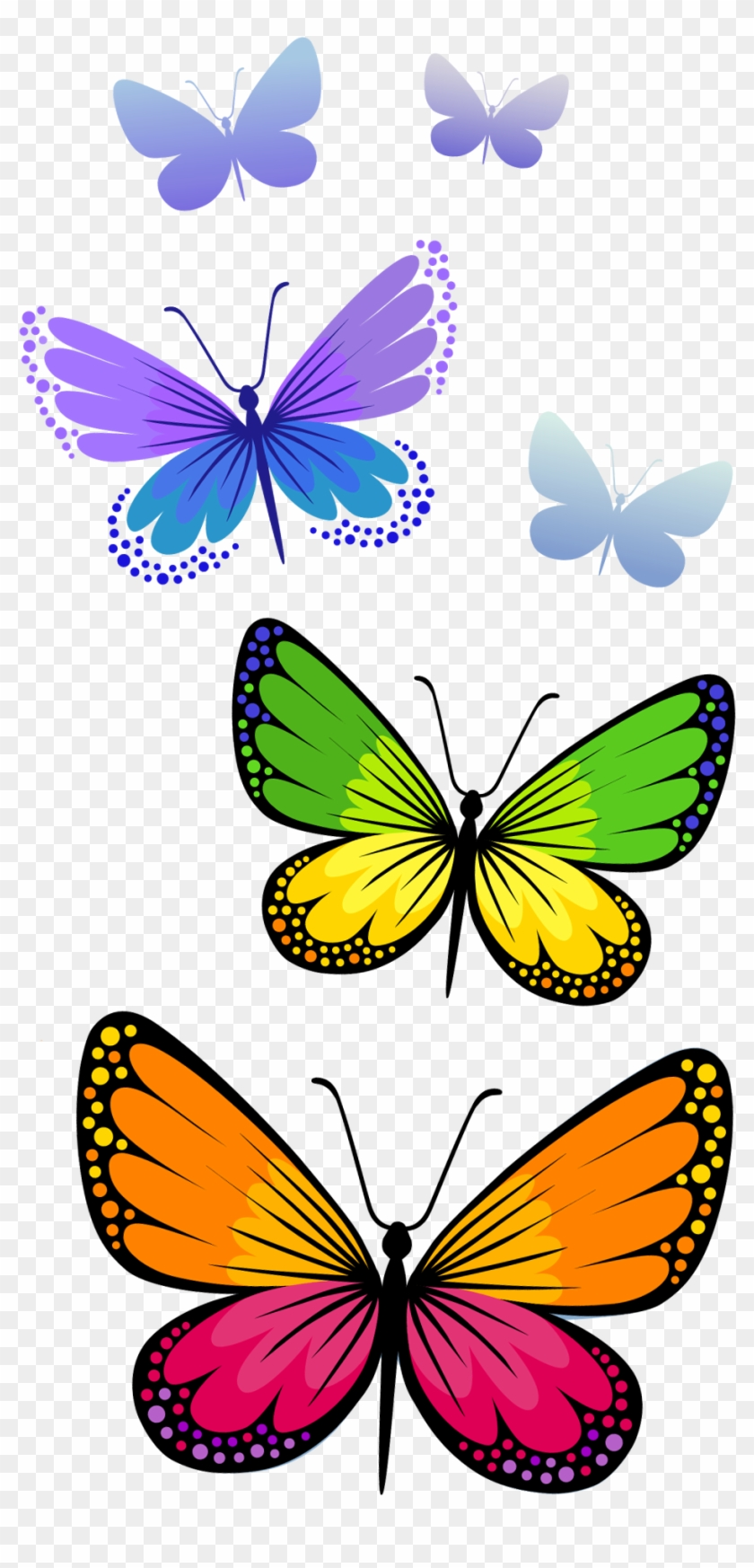 Butterflies Composition Png Clipart Image - Butterfly Clipart Png #3287