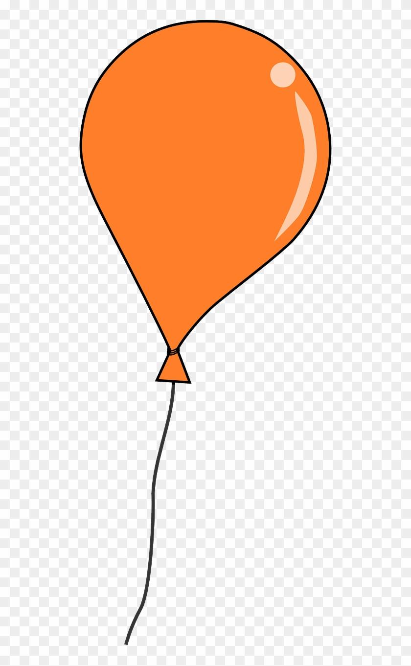 Balloon - Clipart - Orange Balloon Clipart #3315