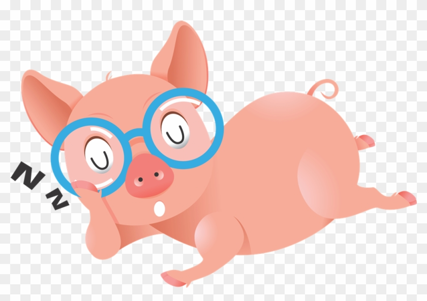 Pig Animated Clipart - Pig With Eye Glasses #3353