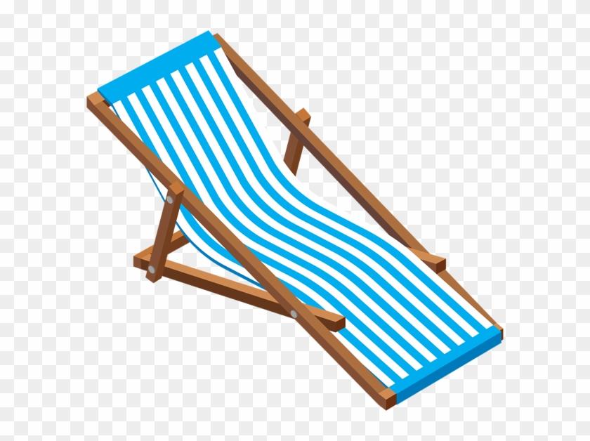 Transparent Beach Lounge Chair Clip Art Image - Lounge Chair Clipart #3403