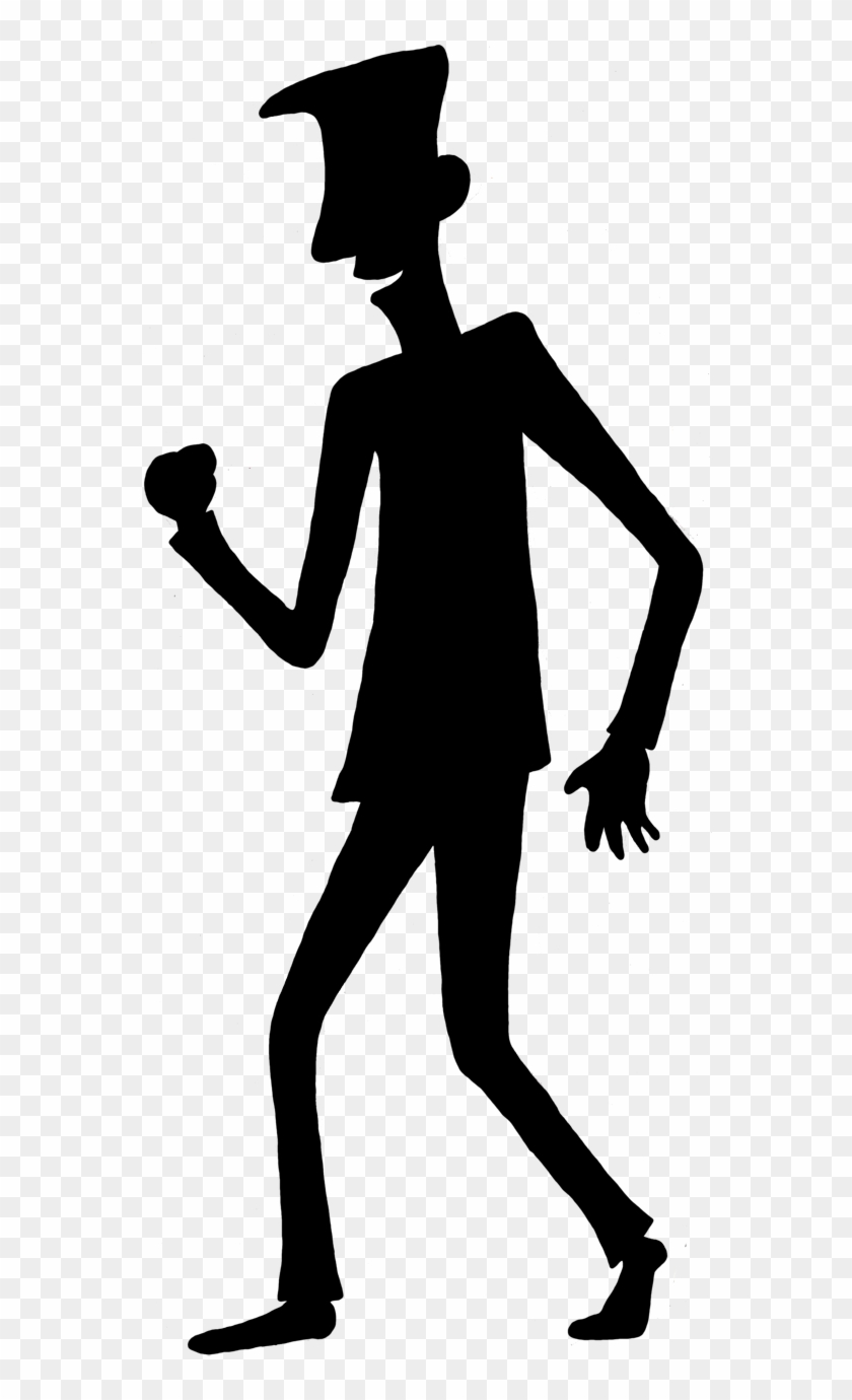 Person Outline Template - Cartoon Person Shadow #3384