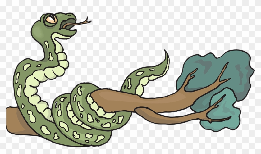 Snake Tree Branch Leaves Reptile Hissing Curled - Snake Tree Branch Leaves Reptile Hissing Curled #358