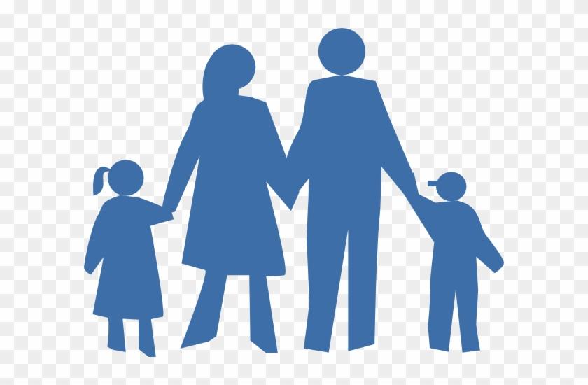 Family Silhouette Clip Art - Family Silhouette Clip Art #3448