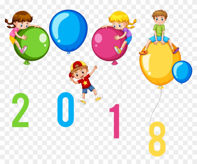 Detail Happy New Year - Happy New Year 2018 Balloons #3443