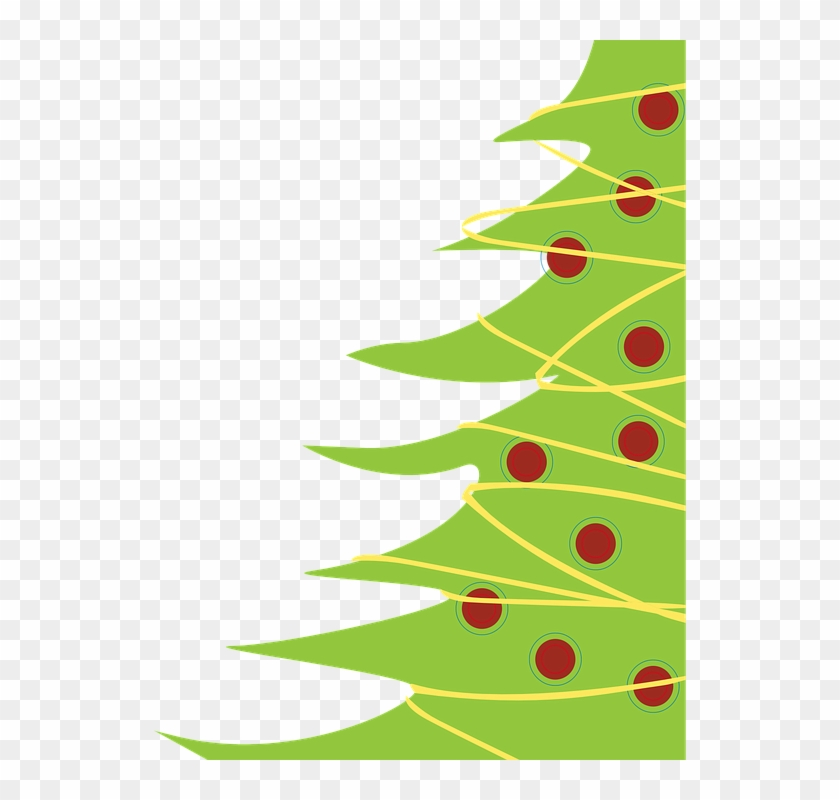 Christmas Tree Christmas Background - Modern Christmas Clip Art #3458
