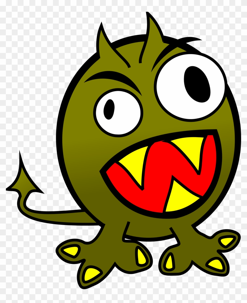 Small Funny Angry Monster - Monster Clipart #3450