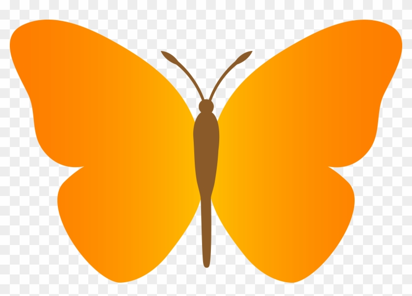 Simple Wings Clipart - Butterfly Clipart #3452