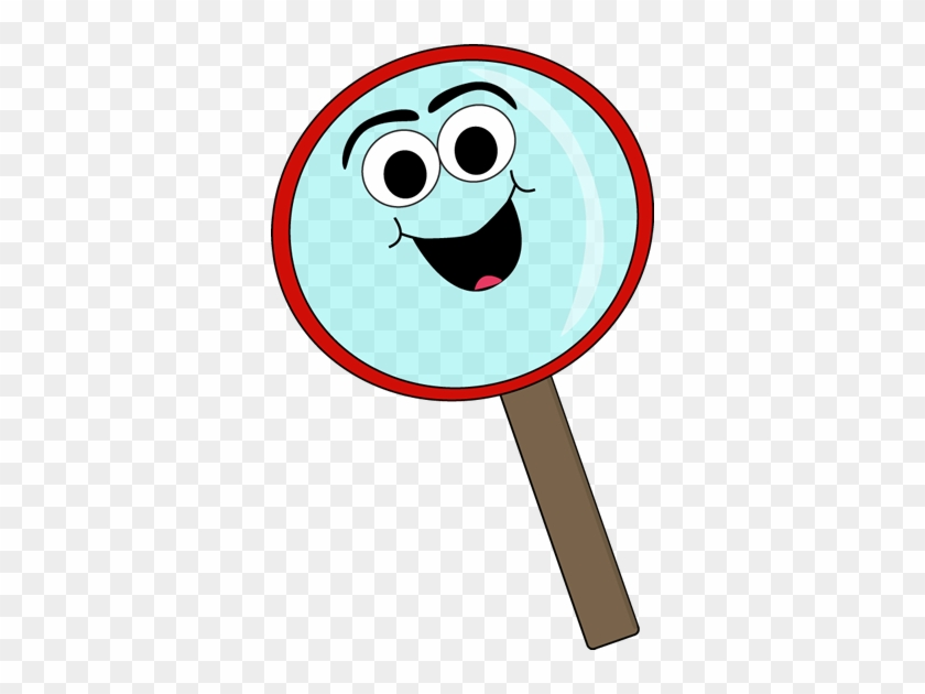 Cartoon Magnifying Glass - Cartoon Magnifying Glass Clipart #3464