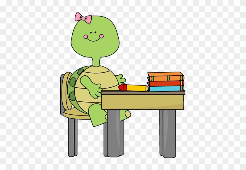 Turtle In School Clip Art - School #3490