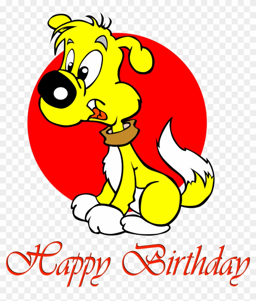 Happy Birthday Puppy - Cartoons Wishes Happy Birthday #3459