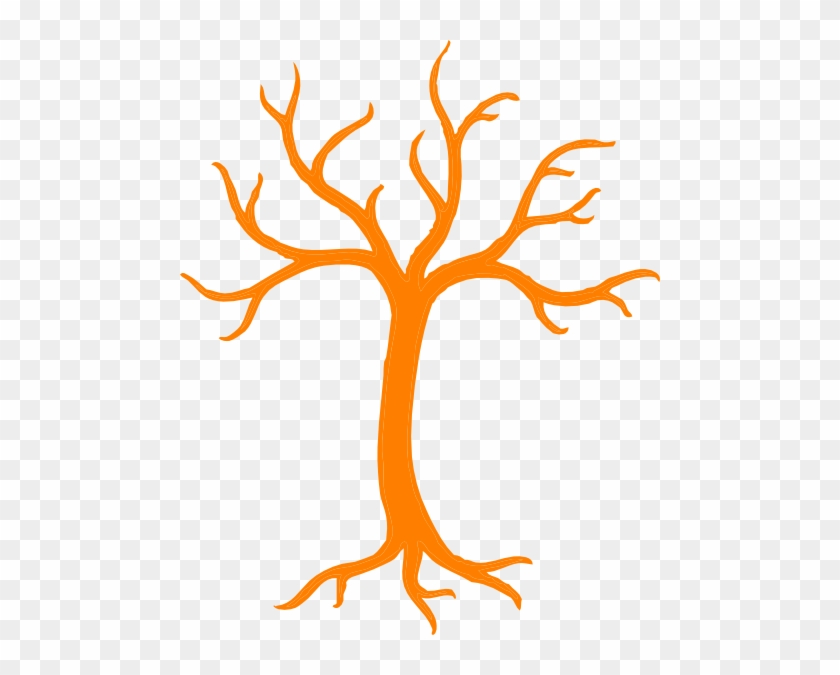Orange Dead Tree Clip Art - Tree Clipart Black And White #3441