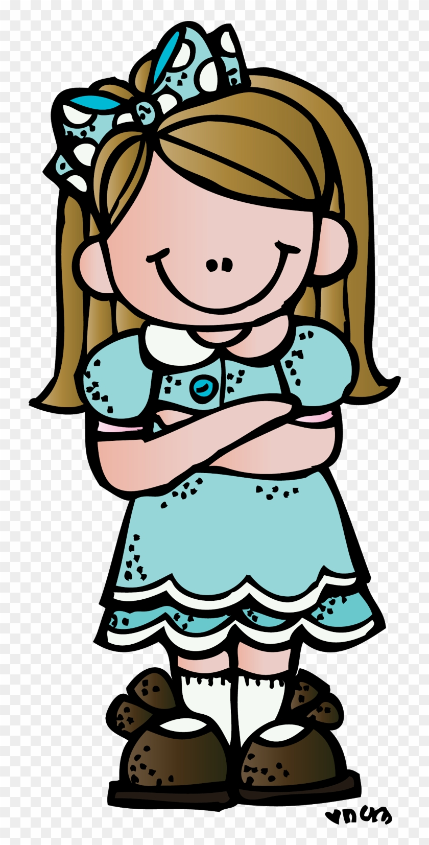 Arms Folded In Prayer Clipart - Melonheadz Girl #3476