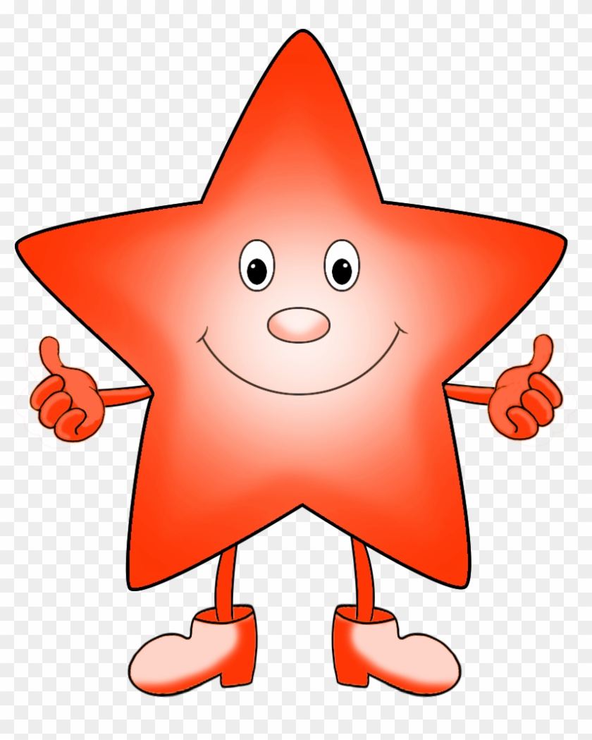 Red Orange Star Cartoon Clipart - Cartoon Clipart #3508
