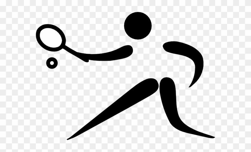 Olympic Sports Tennis Pictogram Clip Art Free Vector - Sports Pictogram #3469