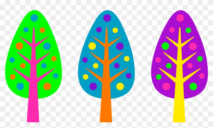 Christmas Tree Clipart Purple - Clip Art Colorful Designs #3521
