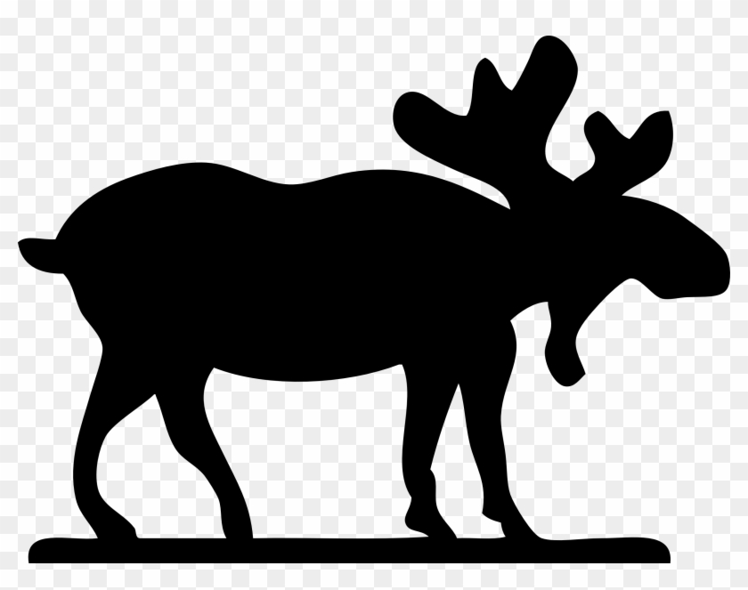 Black Animals Clipart 50 Animal - Moose Clip Art #3484