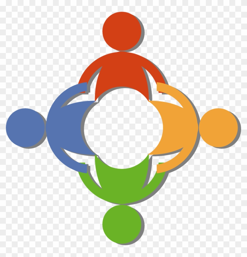 Free Teamwork Clip Art Of A Circle Of Diverse People - Partnership Clipart #3539