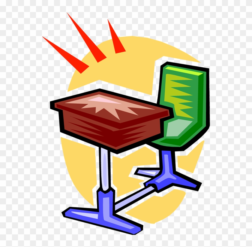 Cartoon School Desk - Desk Clip Art #3563
