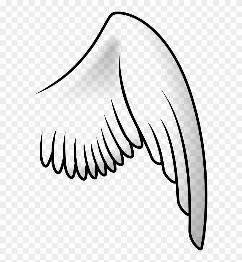 Angel Wing Right - Ala Clipart #3524