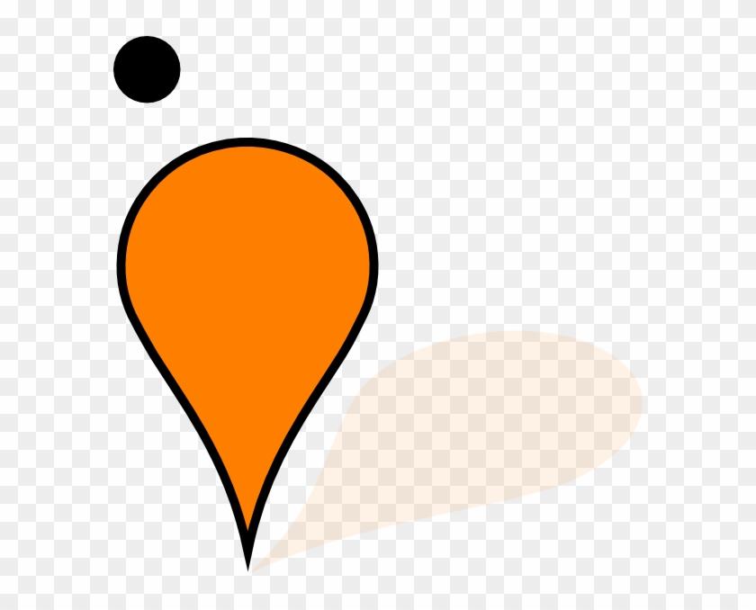 Orange Google Maps Pin Clip Art At Clker - Maps Orange #3547