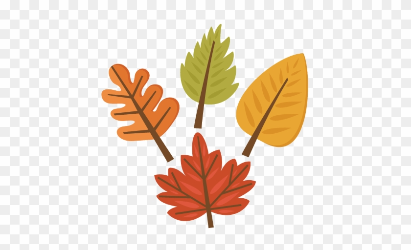 Fall Leaf Set Svg Cutting S For Scrapbooking Svg - Cute Fall Leaves Clipart #3596