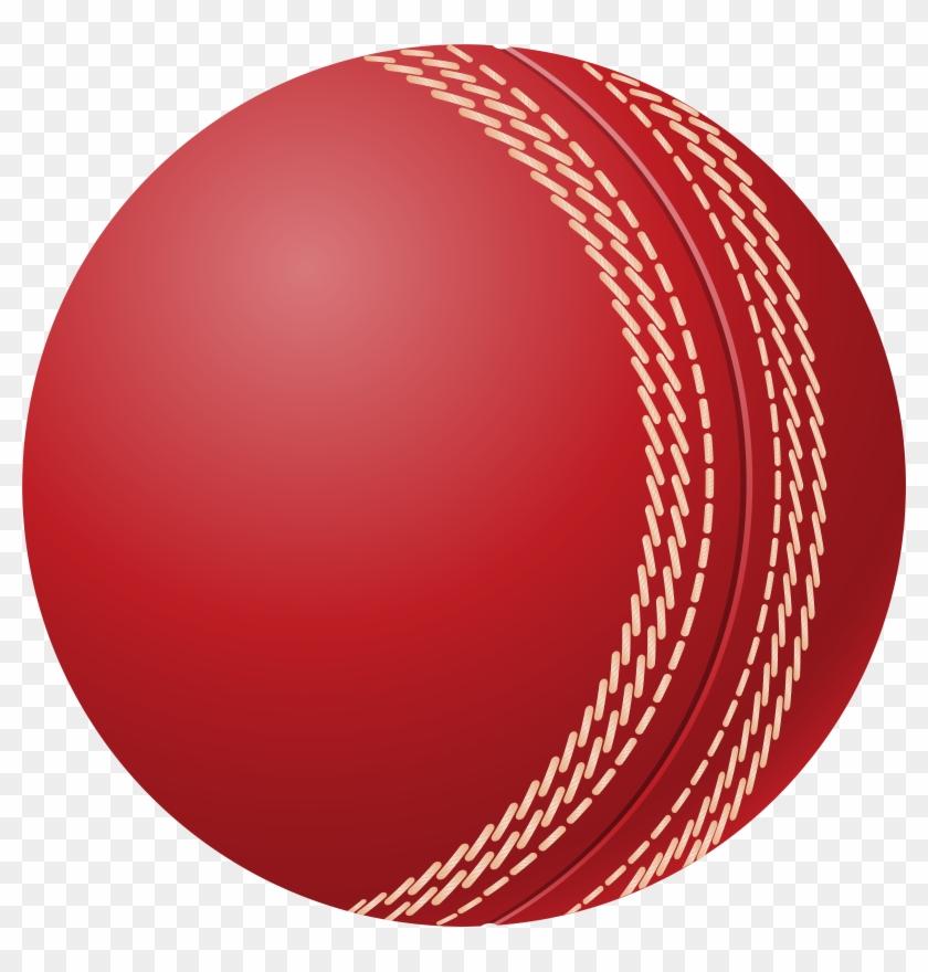 Cricket Ball Png Clip Art - Cricket Ball Vector #3577