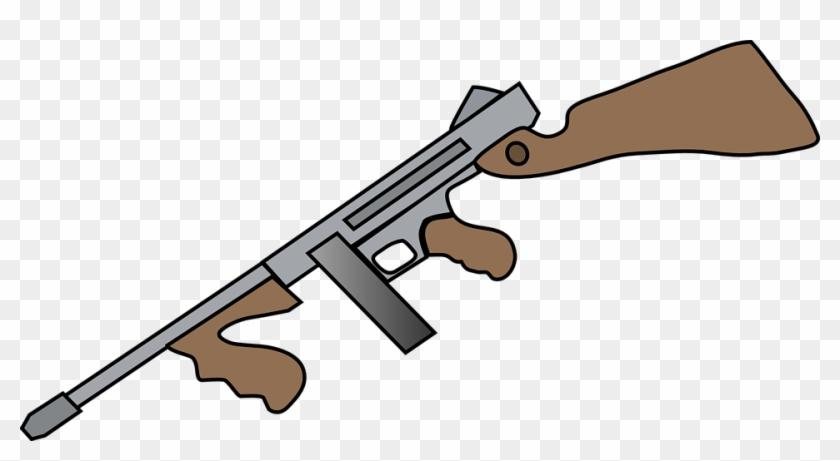 War Clipart Firearm - Cartoon Machine Gun #3584